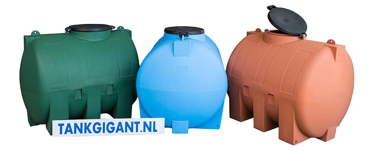 Horizontale watertanks